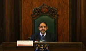 Munsif Dad, Chair of the Committee inside Lancashire County Council, as the Council's Development Control Committee decides whether to grant Cuadrilla's request to defer the go-ahead for two new fracking sites.