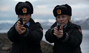 Chilling … Mia Jexen as PC Ingrid and Alexandra Moen as PC Petra in Fortitude. Photograph: Amanda Se