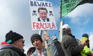 Anti fracking protesters demonstrate peacefully on a march in Blackpool against government plans to lease land on the Fylde coast to Cuadrilla.