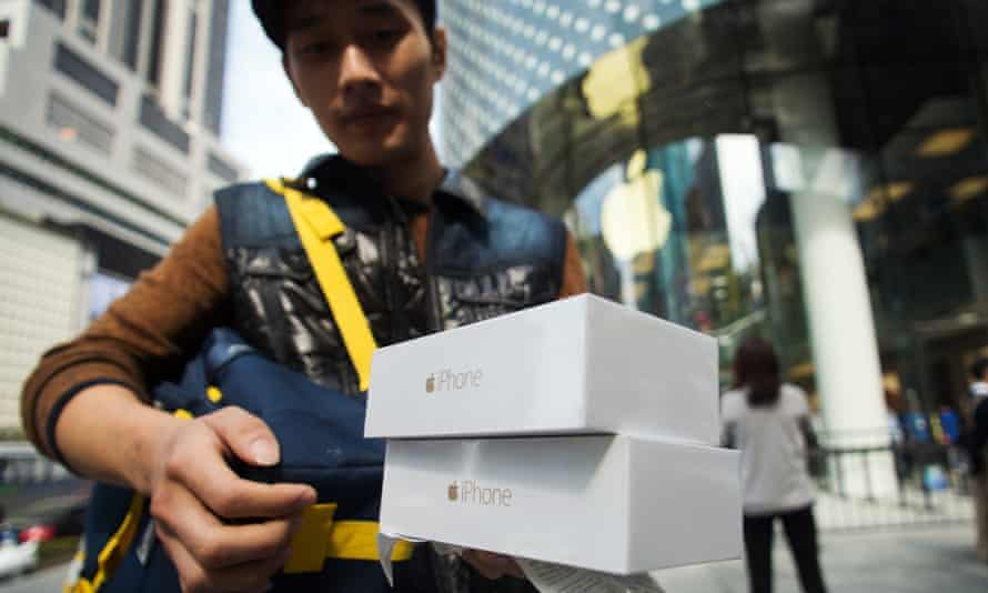 """Apple chief executive Tim Cook said sales of the iPhone 6 had been """"phenomenal""""."""
