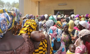 Many displaced people (pictured) are being sheltered by ordinary families in Yola.