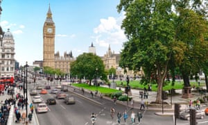 East West Cycle Superhighway plan on Parliament Square