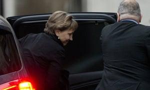 Marina Litvinenko emerging from car