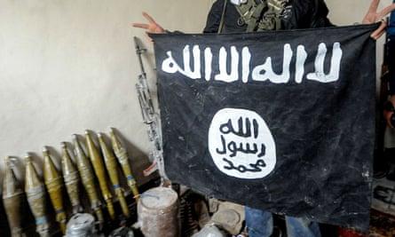 isis flag kobani