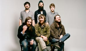 Fleet Foxes, Josh Tillman is front right.