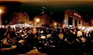 A still from the Vice News VR: Millions March virtual reality film.