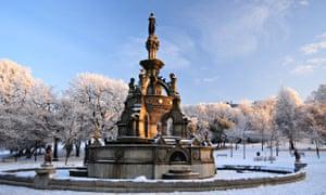 The Stewart memorial fountain in Kelvingrove park