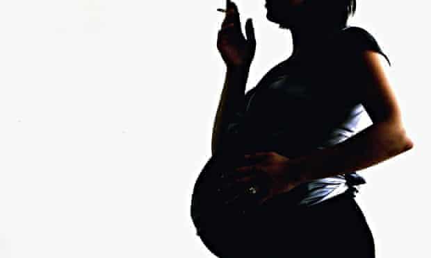 Pregnant woman smoking