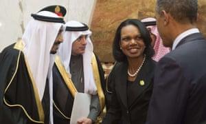 Condoleezza Rice in Saudi Arabia