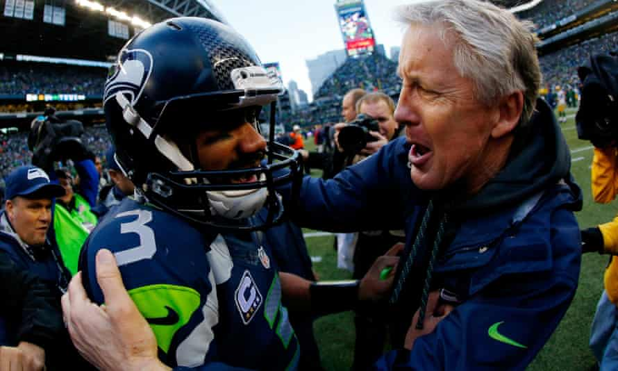 Pete Carroll and Russell Wilson