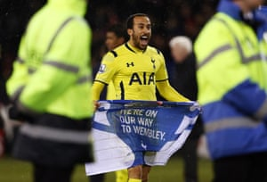 Spurs's Andros Townsend is rather pleased to be going to Wembley.