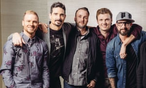 Brian Littrell, Kevin Richardson, Nick Carter, AJ McLean, and Howie Dorough of Backstreet Boys today.