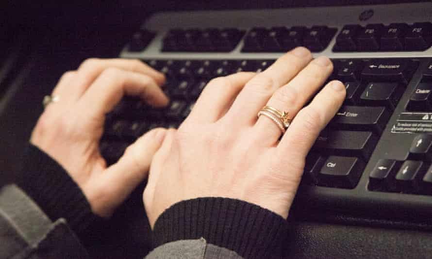 Typing on Keyboard - Computer Keyboard