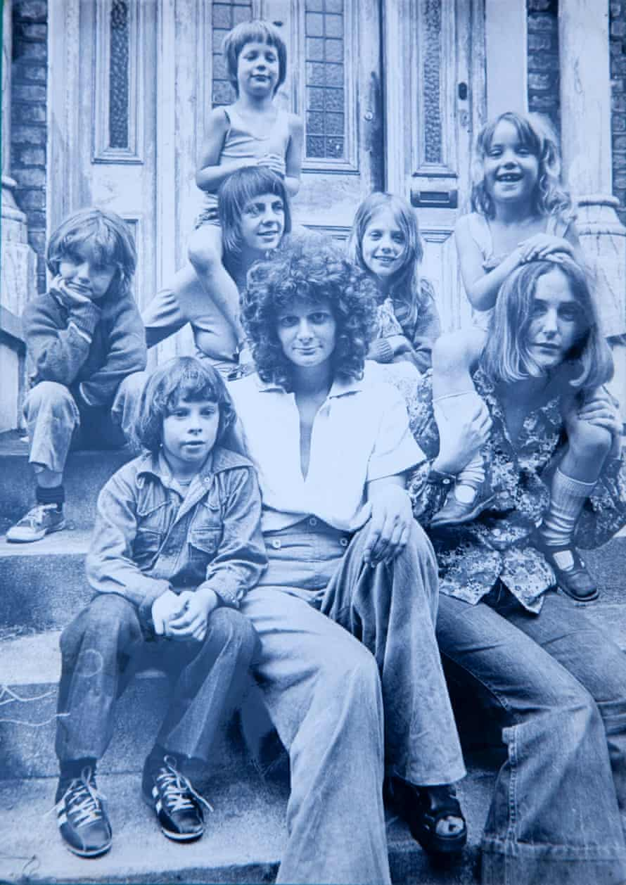 Lynne Segal, in 1973, outside the house she shared with other single mothers.