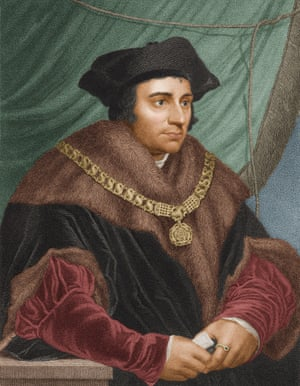 Portrait of Thomas More from a painting by Hans Holbein the Younger, 1527.
