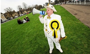 "Alan ""Howling Laud"" Hope, Leader of the Monster Raving Loony Party"