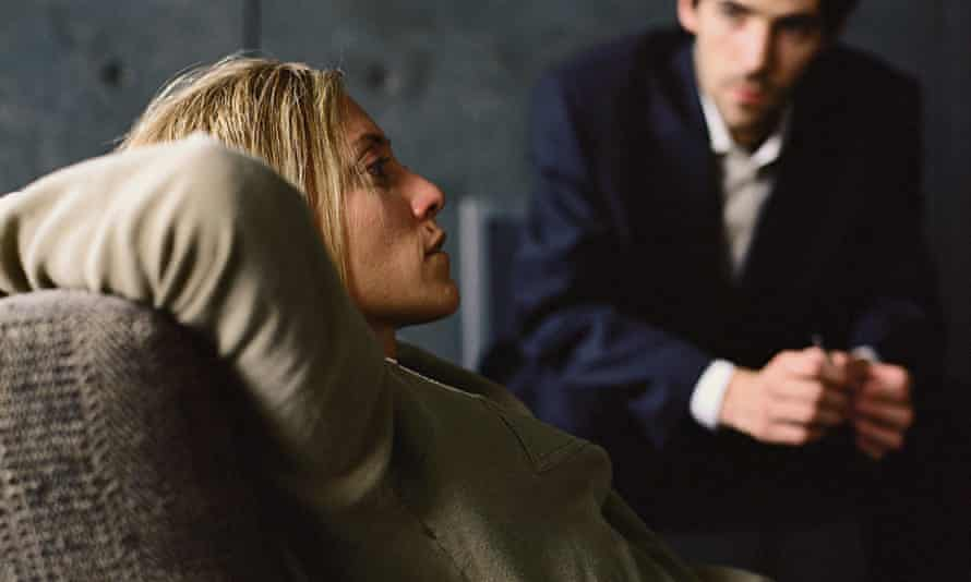 Woman with psychologist