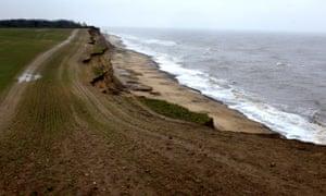Covehithe beach in Suffolk