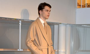 A model during the A.P.C. presentation
