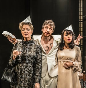 Serena Evans, James McAvoy and Kathryn Drysdale in The Ruling Class.