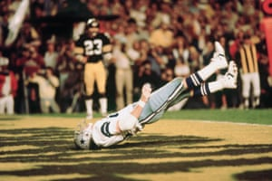 1979 Dallas Cowboys tight end Jackie Smith dropped a sure touchdown pass in the end zone during Super Bowl XIII. The Pittsburgh Steelers won 35-31
