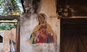 Jesus Christ mural in India