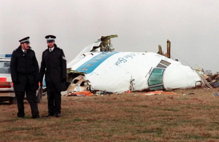 A fragment of the cockpit of the Pan Am Boeing 747 that exploded over the village of Lockerbie on 21 December 1988, killing everyone on board and 11 on the ground.