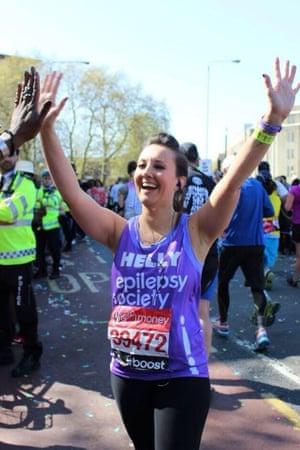 Helen Gregory running the London Marathon