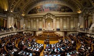 The Portuguese parliament in Lisbon
