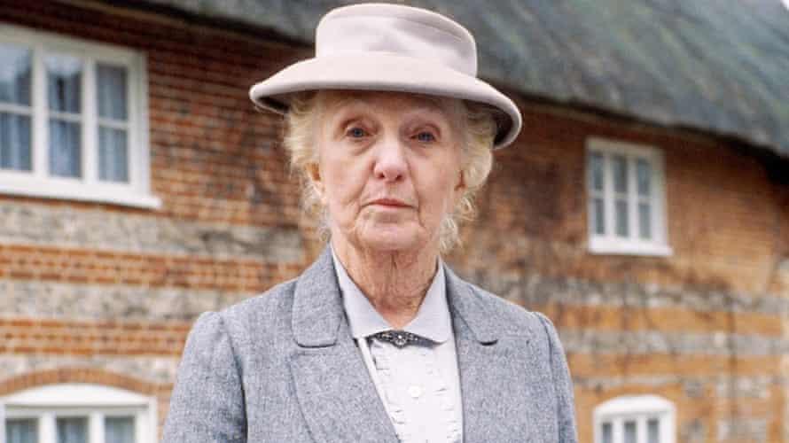 Joan Hickson as Miss Marple.