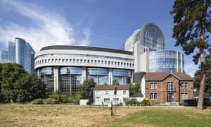 The EU Parliament complex seen from Leopold Park.