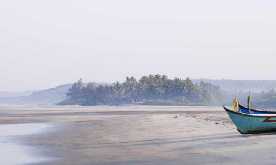 Serene sands … Ashvem beach, by the Palm Grove Beach Resort, Goa