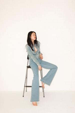 Vanessa Jacket, £54.95,  gap.co.uk. Jeans, £290, by Michael Kors, from net-a-porter.com.