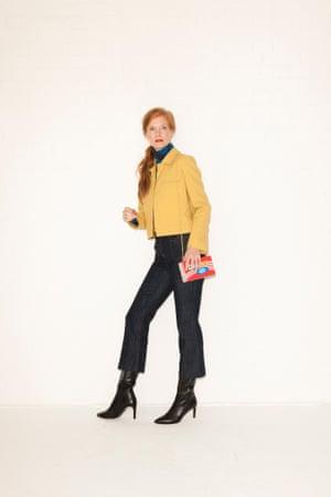 Sam Culottes, £79, and jacket, £169, both hobbs.co.uk. Polo neck, £24.99, hm.com. Boots, £175, lkbennett.com. Bag,£35,asos.com.