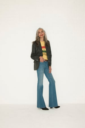 Pam Jeans, £195, mih-jeans.com. T-shirt, stylist's own. Blazer,£455, by Marc by Marc Jacobs, from  fenwick.co.uk. Boots, £325,bymalenebirger.com. Belt, from a selection, americanapparel.net.