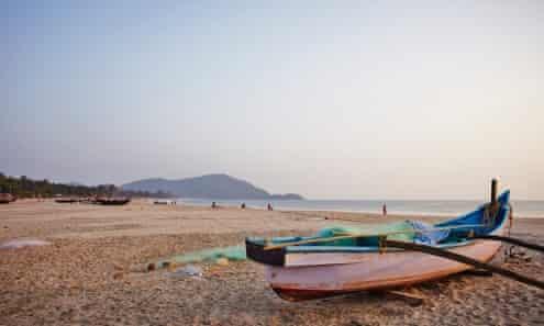 Dusk on Agonda beach Goa