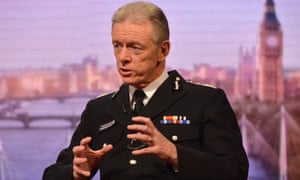 Sir Bernard Hogan-Howe, centre, said: 'When the police and the security service and sometimes the military respond, we want to make sure that our ability … is not restricted by things like live coverage.'