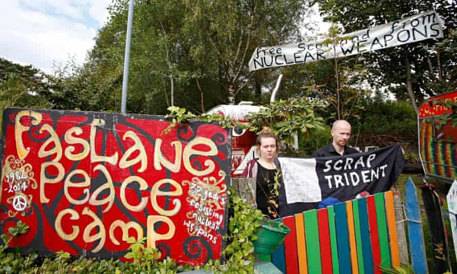 Anti-Trident activists in Scotland.