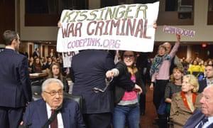 Protest code pink henry kissinger