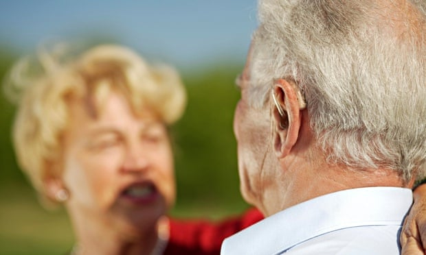 hearing aids elderly couple