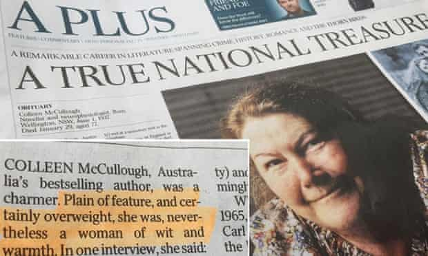 Australian obituary for Colleen McCullough