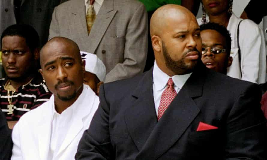 Rapper Tupac Shakur, left, and Suge Knight in Los Angeles in 1996.