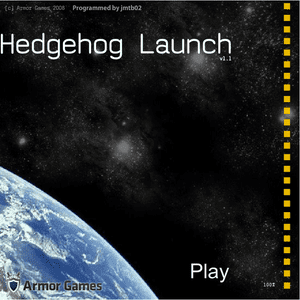 A hedgehog is launched.