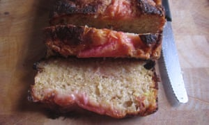 Slices of rhubarb loaf – great with a pot of tea.