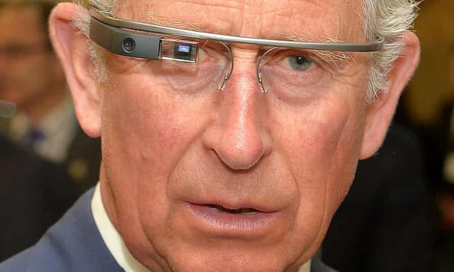 prince charles wearing google glass