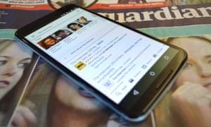 Google Nexus 6 smartphone with Google Search