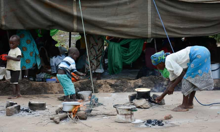 Displaced people are housed at the Sekeni  relief camp in Chikwawa, Malawi  Saturday, Jan. 17, 2015. Flooding in Malawi has killed more than 176 people, displaced at least 200,000 others, left homes and schools submerged in water and roads washed away by the deluge in the southern African country.