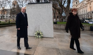 Winston Churchill statue on Parliament Square