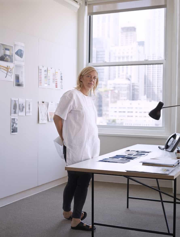 Rebekka Bay in her studio