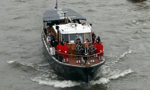 The Havengore, the boat which carried Sir Winston Churchill along the Thames